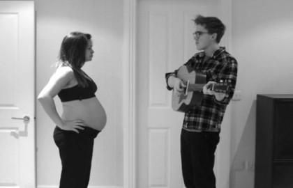 (Video) Koppel maakt prachtige timelapse van zwangerschap