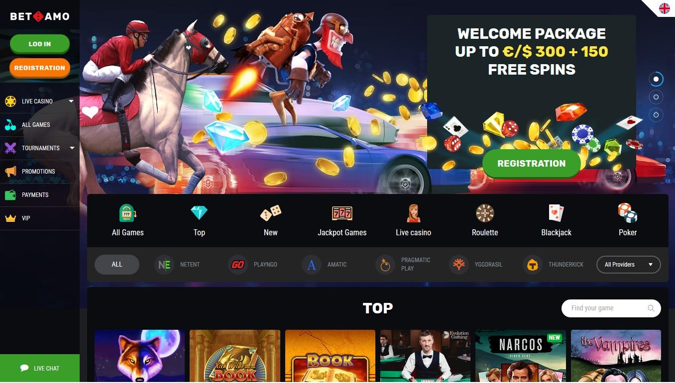 screenshot van Betamo Casino