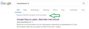 Google zoeken in enkele seconden